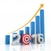 Growth target 2016 — Stock Photo