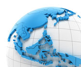 Globe of Southeast Asia with national borders — Stock Photo