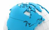 Globe of Canada with national borders — Stock Photo