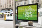 Free tram zone in Melbourne — Stock Photo