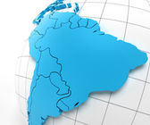 Globe of Brazil with national borders — Stock Photo