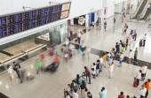 People at the arrival hall of an airport — Stock Photo