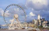 Ferris wheel in Hong Kong — Stock Photo