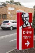 KFC drive through sign — Stock Photo
