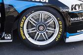 Race car wheel — Stock Photo