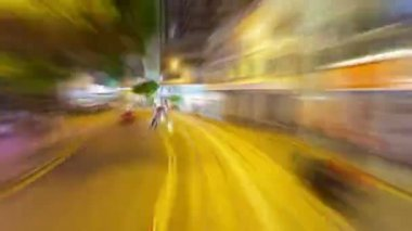 Timelapse video of driving in a city — Stock Video