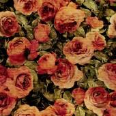 Grunge roses pattern — Stock Photo