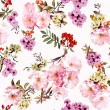 Pattern of spring flowers and branches — Stock Photo #59943791