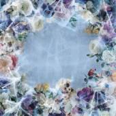 Congelés ornement fleur — Photo