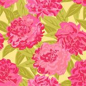 Pink peonies — Stock Vector