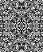 Black and white monogram ornament — Stock Vector