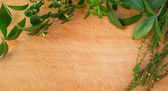 Natural wooden background — Stock Photo