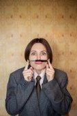 Mujer de negocios divertidos — Foto de Stock