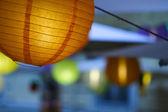 Papier kolorowy lampy — Zdjęcie stockowe