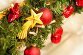 Christmas ornament - gold star — Stock Photo