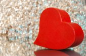 Röd valentine hjärta — Stockfoto