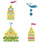 Set of houses — Stock Vector