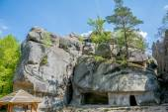Large lofty stones Skeli Dovbusha, Ukraine — Stock Photo