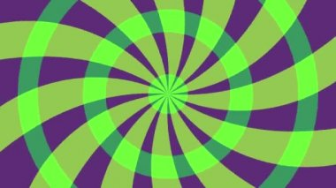 Animated radial Background. green -Purple — Stock Video