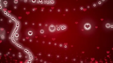 Wedding loop background, abstract motion, heart red — Stock Video