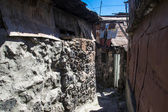 Old urban district for poor in Yerevan, Armenia — Stock Photo