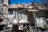 Accommodation in urban district for poor Yerevan, Armenia — Stock Photo