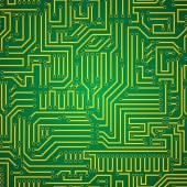 回路基板のシームレスなパターン — ストックベクタ