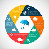Hava infographics — Stok Vektör