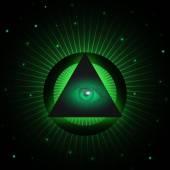 Masonic eye background — Stock Vector