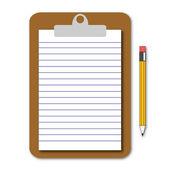 メモ帳とペン — ストックベクタ