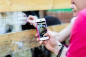 Photo shooting on smartphone — Stock Photo