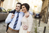 Newlyweds in love — Stock Photo