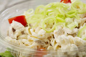 Fresh prepared salad in a bowl to take — ストック写真