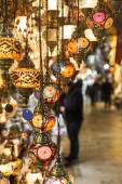 Hanging Turkish lanterns — Stock Photo