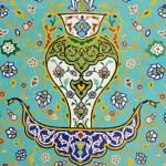 Islamic Floral Motif Pattern on Mosaic — Stock Photo #61297311
