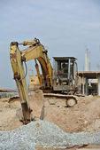 Old Excavator Machine for earthwork — Stock Photo