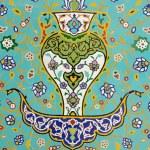Islamic Floral Motif Pattern on Mosaic — Stock Photo #63718357