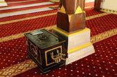Column and donation box at Masjid Kampung Hulu in Malacca, Malaysia — Zdjęcie stockowe
