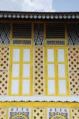 Traditional window of Masjid Ihsaniah Iskandariah at Kuala Kangsar — Stock Photo