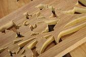 Malaysian traditional wood carving from Terengganu, Malaysia — Stockfoto