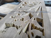 Malaysian traditional wood carving from Terengganu — Stock Photo