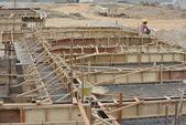 Roof beam and slab formwork — Stock Photo