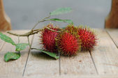 Fresh Rambutan Fruit or Nephelium lappaceum — Stock Photo