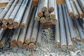 Hot rolled deformed steel bars a.k.a. steel reinforcement bar — Stock Photo