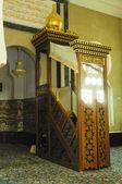Minbar of Ubudiah Mosque at Kuala Kangsar, Perak, Malaysia — Stock Photo