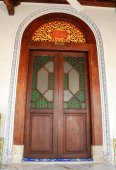 Door of Kampung Kling Mosque in Malacca, Malaysia — Stock Photo