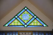 Stain glass window of The National Mosque of Malaysia a.k.a Masjid Negara — 图库照片