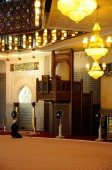 Mimbar and mihrab of The National Mosque of Malaysia a.k.a Masjid Negara — Stock Photo