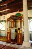 Mimbar of Peringgit Mosque in Malacca, Malaysia — Stock Photo
