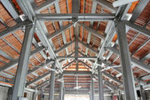 Roof structure of The Langgar Mosque located at Kota Bharu, Kelantan, Malaysia. The original wooden mosque builds on 1871 by Sultan Muhammad II, and enlarged on 1995. — Stock Photo